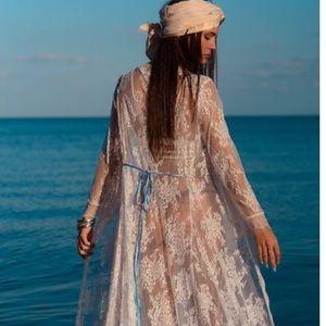 Other - Boho lace kimono robe duster coat swimsuit cover